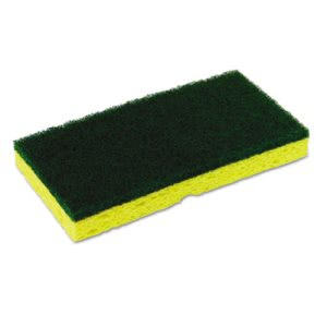 Continental Medium-Duty Scrubber Sponge, Yellow/Green, 40 Sponges (CMCSS652)