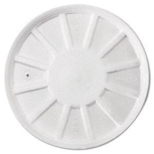 Dart Vented Foam Lids, 8-44oz Cups, White, 50/Bag, 10 Bags/Carton (DCC32RL)