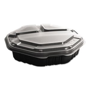OctaView Hot Food Containers, 9 In. Medium, 100 Containers (SCC809014PP94)