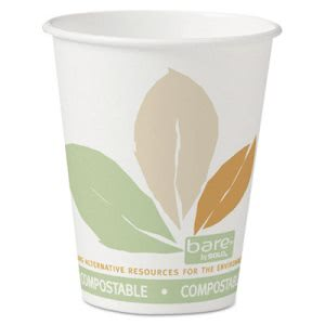 Solo Bare Eco-Forward 8-oz. Paper Hot Cups, Bare Design, 1000 Cups (SCC378PLABB)