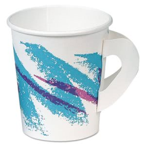 Solo Jazz Hot 6-oz. Paper Cups with Handles, Jazz Design, 1000 Cups (SCC376HJZJ)