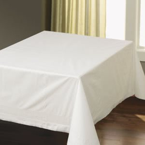 "Hoffmaster Tissue/Poly Tablecovers, Square, 82""x82"", White, 25/CT (HFM210086)"