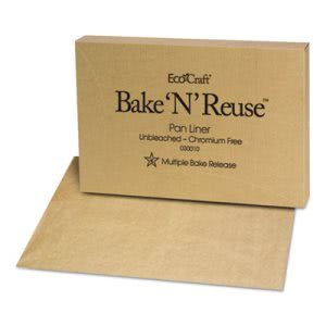 EcoCraft Bake-N-Reuse Pan-Liner, 16 3/8 x 24 3/8, 1000 Sheets (BGC030010)
