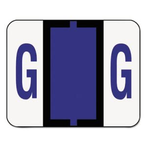 Smead A-Z Color-Coded End Tab Labels, Letter G, Violet, 500/Roll (SMD67077)