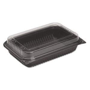 Dinner Box Medium, Polystyrene, Black, 100 Containers (SCC 919017-PM94)