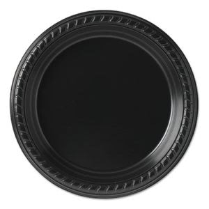 "Solo Party Plastic Plates, 7-1/4"", Black, 500 Plates (SCCPS75E)"