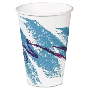 Solo Hot Paper 8-oz. Vending Cups, Jazz Design, 2000 Cups (SCCPV588J)