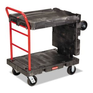Rubbermaid 4496 Convertible Platform Truck, Black (RCP4496BLA)