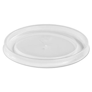 Chinet High Heat Vented Plastic Lids, White, 500 Lids (HUH89112)