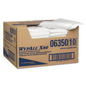 Wypall X80 Foodservice Paper Towel, Blue/White, 150 Towels (KCC06350)