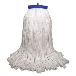 Boardwalk 32-oz Lie-Flat Mop Head, Rayon Fiber, White, 12 Mops (BWK732R)