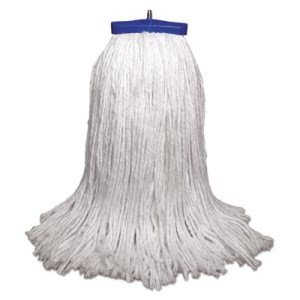 Boardwalk Lie-Flat Mop Head, Rayon Fiber, 12-oz., White, 12 Mops (UNS712R)