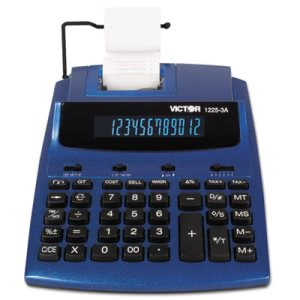 Victor AntiMicrobial 2-Color Printing Calculator, 12-Digit (VCT12253A)