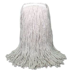 Boardwalk Banded Mop Head, Cotton, Cut-End, White, 16oz, 12/Carton (BWKCM20016)