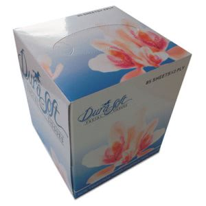 Gen Facial Tissue Cube Box, 2-Ply, White, 85 Sheets/Box, 36 Boxes (GEN852E)