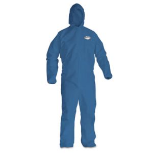 Kleenguard A20 Particle Protection Coveralls, XL, Blue, 24 Coveralls (KCC58514)