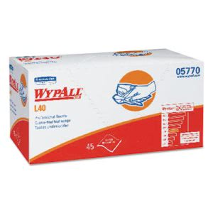 Wypall* L40 Professional Towels, 12 x 23, White, 45/Box, 12/Carton (KCC05770)
