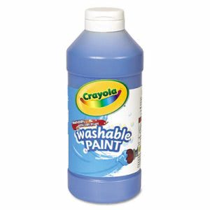 Crayola Washable Paint, Blue, 16 oz Squeeze Bottle (CYO542016042)
