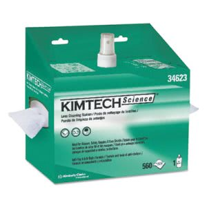 Kimtech* Lens Cleaning Station, POP-UP Box, White, 4/Case (KCC34623)