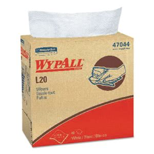 Wypall L20 Wipers, Pop-Up Box, 4-Ply, White, 10 Boxes (KCC47044)