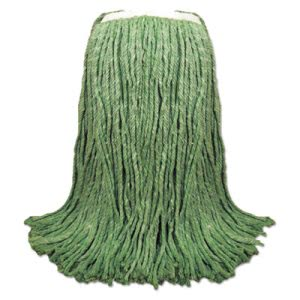 "Boardwalk Cut-End Yarn Mop Head, Green, 1 1/4"" Headband, 12/Carton (BWK8024G)"