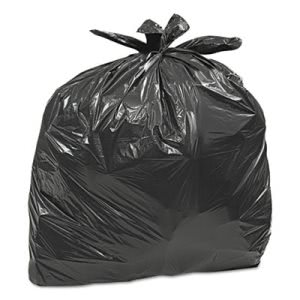 33 Gallon Black Garbage Bags, 33x40, 0.75mil, 300 Bags (WBIGES6FTL50CT)