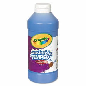 Crayola Artista II Washable Tempera Paint, Blue, 16 oz (CYO543115042)