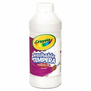 Crayola Artista II Washable Tempera Paint, White, 16 oz (CYO543115053)