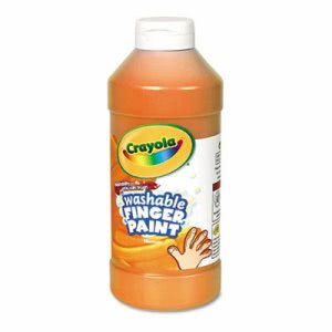 Crayola Washable Fingerpaint, Orange, 16 oz (CYO551316036)