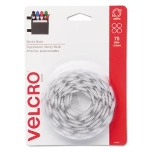 Velcro Sticky-Back Hook and Loop Dot Fasteners, 75 Sets (VEK90090)
