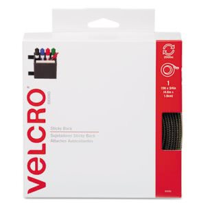 Velcro Sticky-Back Hook and Loop Fastener Tape with Dispenser (VEK90083)
