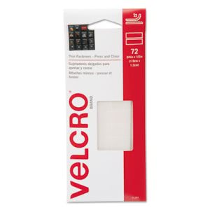Velcro Hook to Hook Fasteners, Clear (VEK91389)