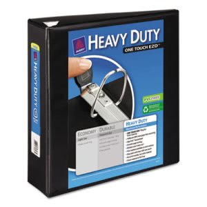 "Avery Nonstick Heavy-Duty Reference View Binder, 3"" Capacity, Black (AVE79693)"