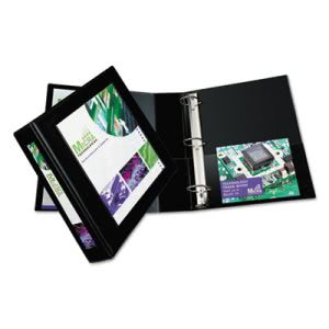 "Avery Framed Binder w/ One Touch Locking Rings, 2"" Capacity, Black (AVE68032)"