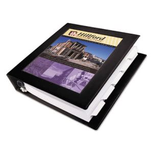 "Avery View Binder w/ One Touch Locking Rings, 1-1/2"" Capacity, Black (AVE68058)"
