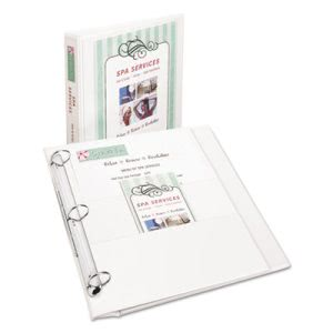 "Avery Durable Flip Back Round Ring View Binder, 1"" Capacity, White (AVE17580)"