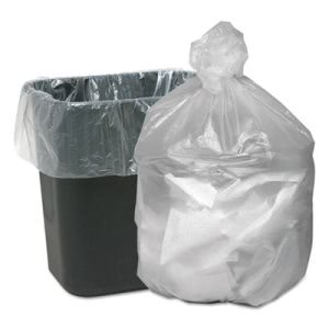 10 Gallon Natural Trash Bags, 24x24, 8mic, 1000 Bags (WBIGNT2424)