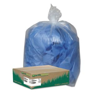 Commercial Clear Recycled Can Liners, 55-60 gal, 1.5 mil, 100 /CT (WBIRNW5815C)