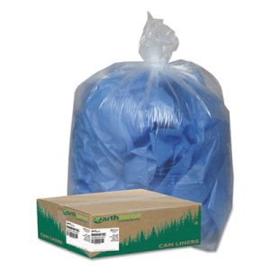 45 Gallon Clear Garbage Bags, 40x46, 1.5mil, 100 Bags (WBIRNW4615C)