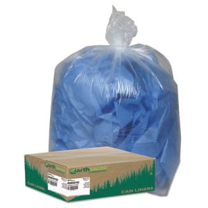 33 Gallon Clear Garbage Bags, 33x39, 1.25mil, 100 Bags (WBIRNW4015C)