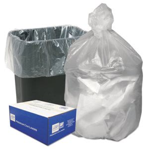 16 Gallon Natural Trash Bags, 24x33, 8mic, 1000 Bags (WBIHD24338N)