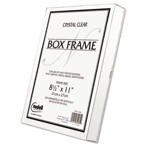 Nu-dell Un-Frame Box Photo Frame, Plastic, 8-1/2 x 11, Clear (NUD30085)
