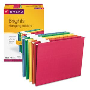 Smead Hanging File Folders, Letter, Assorted Colors, 25 per Box (SMD64059)