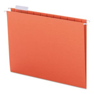 Smead Hanging File Folders, 1/5 Tab, Letter, Orange, 25 Folders (SMD64065)