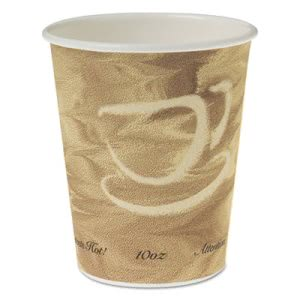 Solo Single Sided Poly Paper 10-oz. Hot Cups, Mistique, 1000 Cups (SCC370MS)