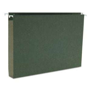 "Smead 1"" Capacity Box Hanging File Folders, Legal, Green, 25 per Box (SMD64339)"