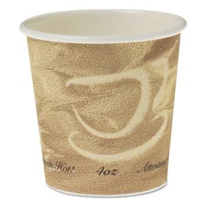 Solo Single Sided Poly 4-oz. Hot Cups, Mistique Design, 1000 Cups (SCC374MS)