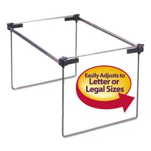"Smead Steel 12""-24"" Hanging Folder Frame, Letter/Legal Size, 2/Bx (SMD64855)"
