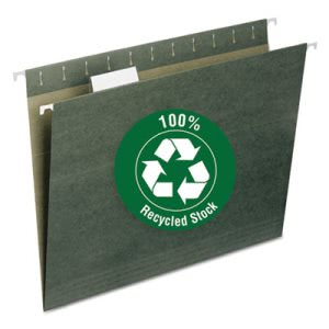 Smead Recycled Hanging File Folders, Letter, Green, 25 Folders (SMD65001)