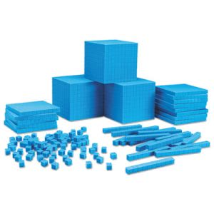 Learning Resources Plastic Base Ten Class Set, Blue (LRNLER0932)